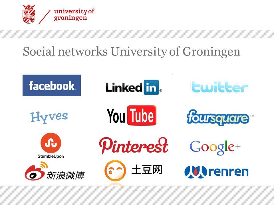 Social networks University of Groningen 3