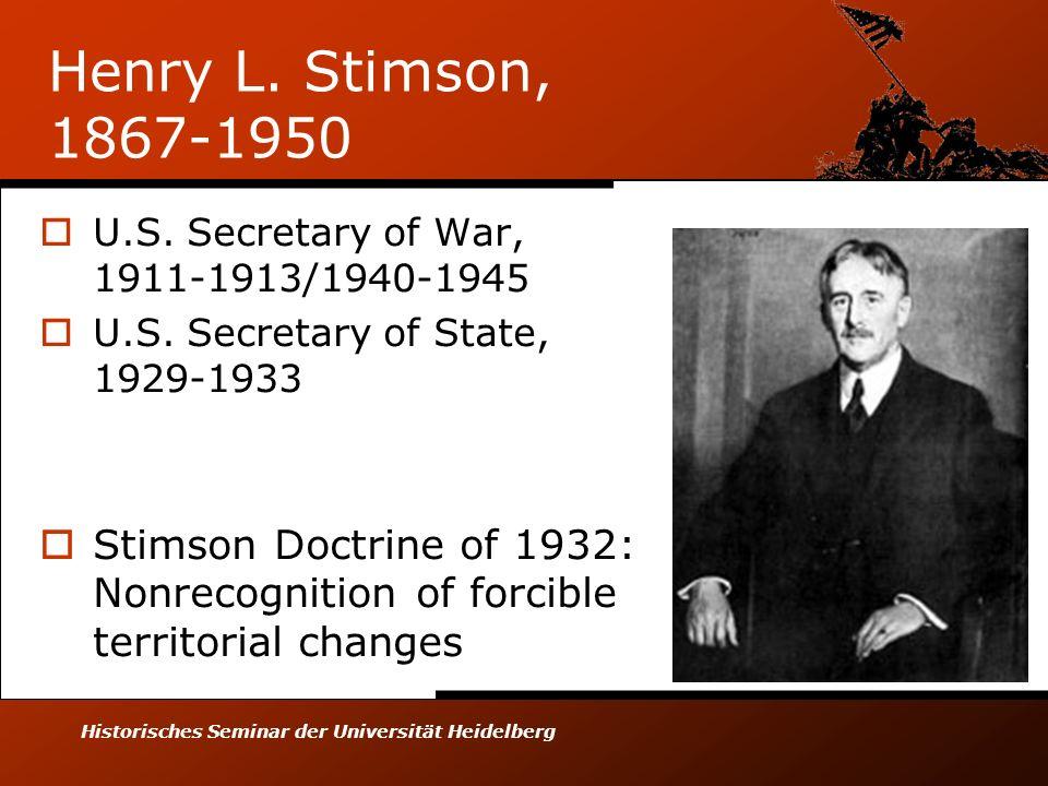 Historisches Seminar der Universität Heidelberg Henry L.
