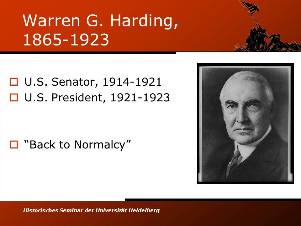Historisches Seminar der Universität Heidelberg Warren G.