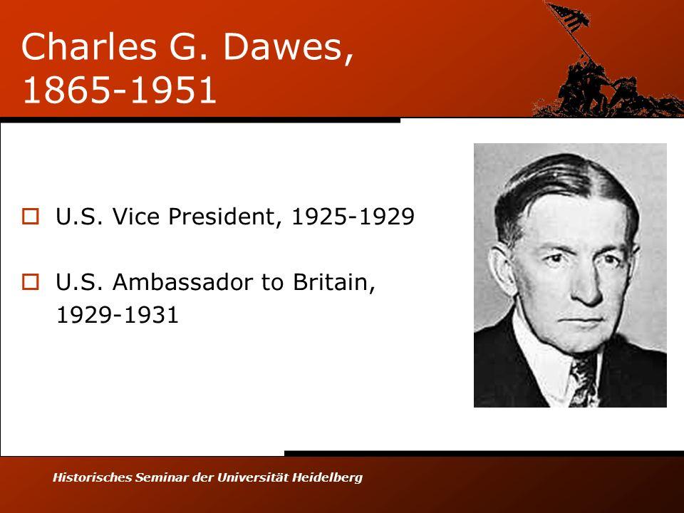 Historisches Seminar der Universität Heidelberg Charles G.