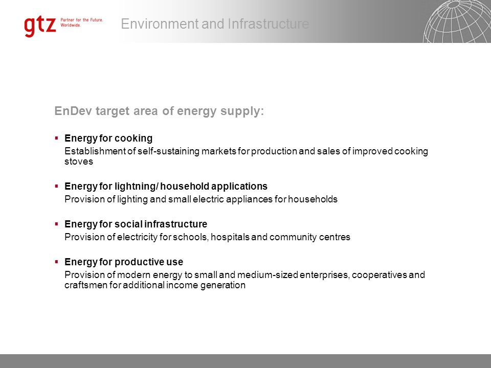 Environment and Infrastructure Access to energy by On-grid e.g.