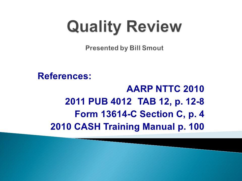 References: AARP NTTC 2010 2011 PUB 4012TAB 12, p.