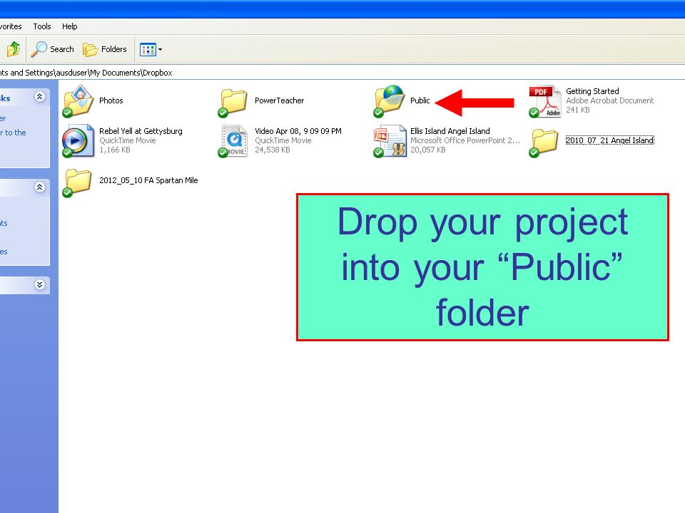 Drop your project into your Public folder