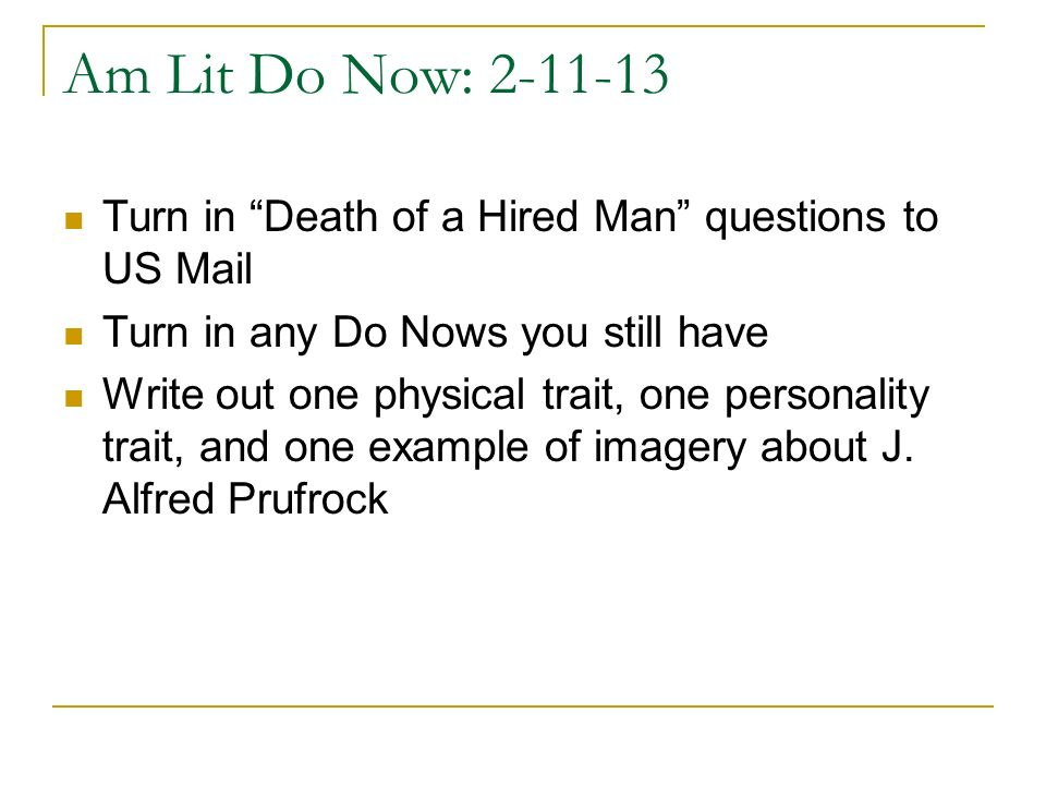 Am Lit: Do Now 2-15-13 What do you know about narrative structure.
