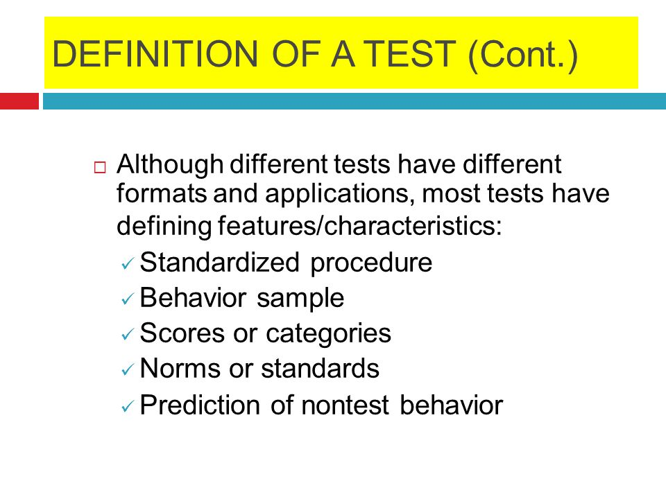 Establishing Norms When psychologists design a test to be used in a variety of settings, they usually set up a scale for comparison by establishing norms.