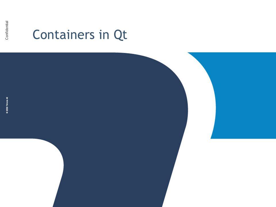 Confidential © 2009 Teleca AB Containers in Qt