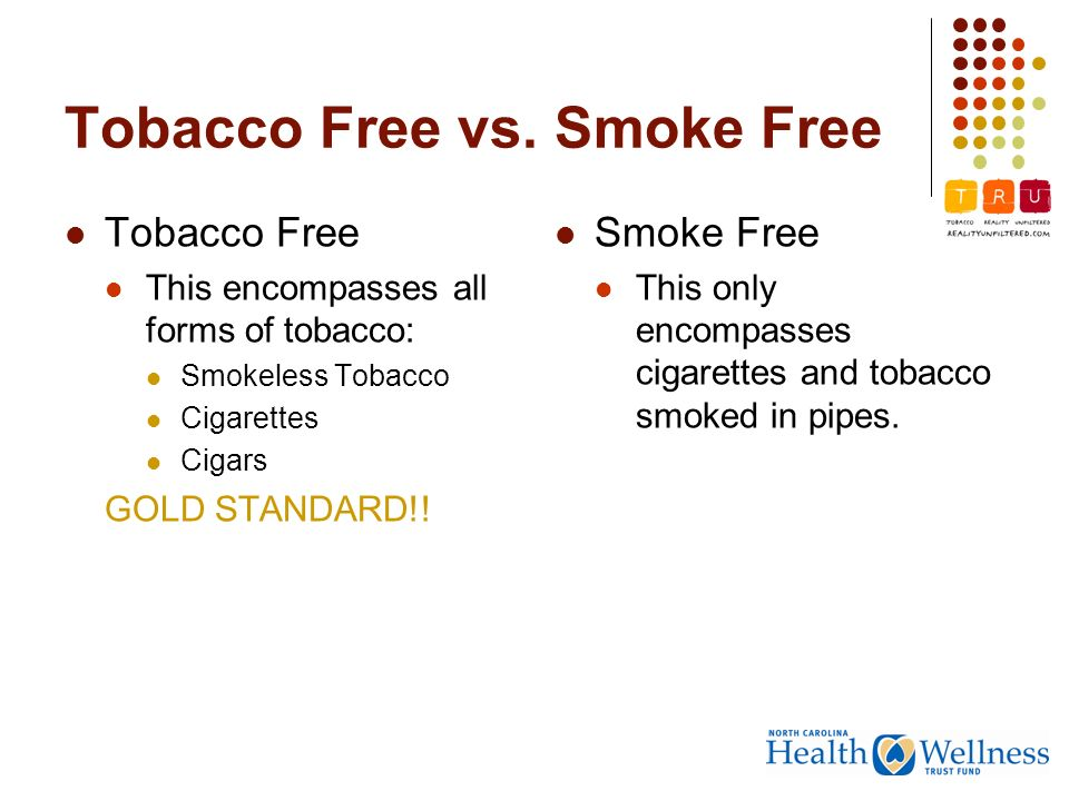 Tobacco Free vs.