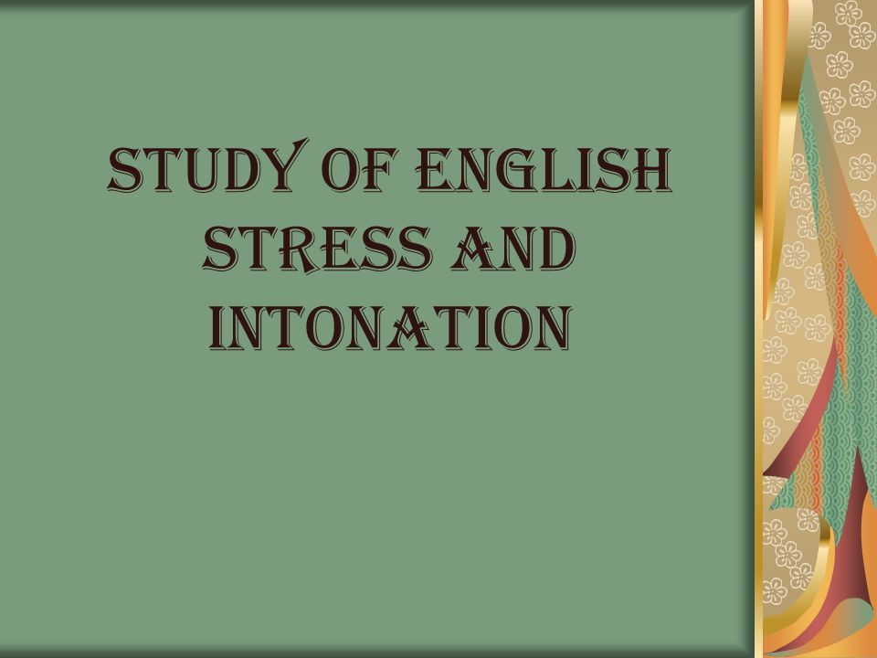 STRESS In linguistics, stress is the relative emphasis that may be given to certain syllables in a word.