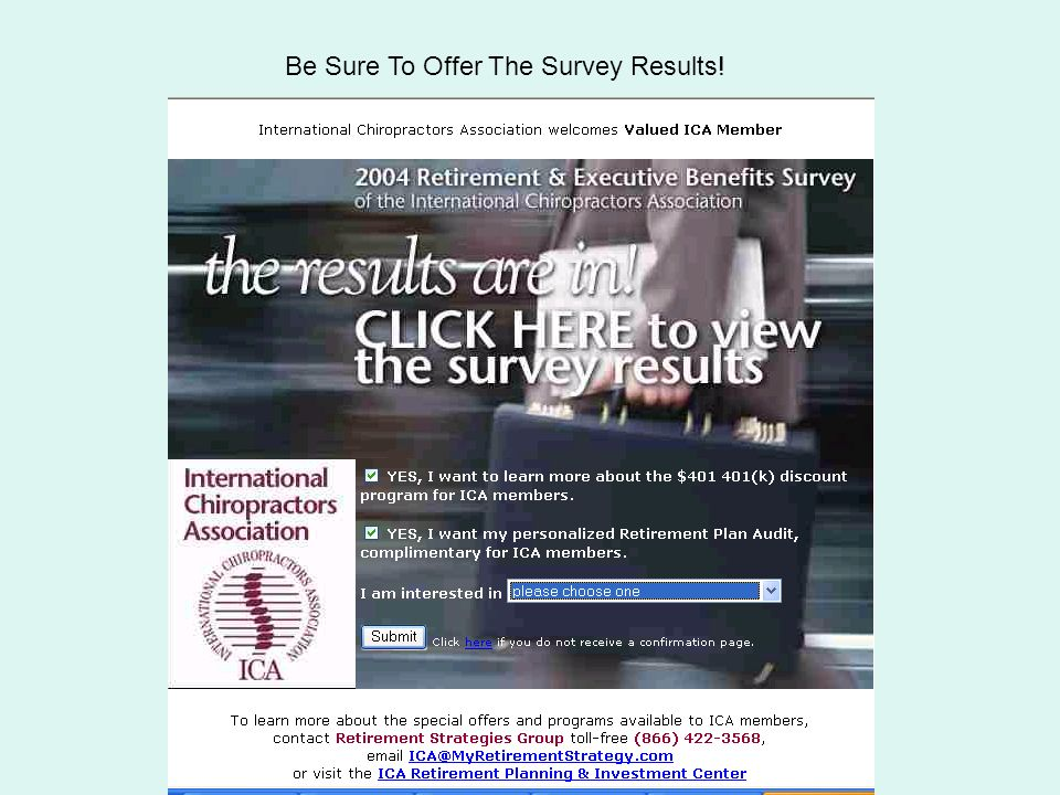 Quintessence Be Sure To Offer The Survey Results!
