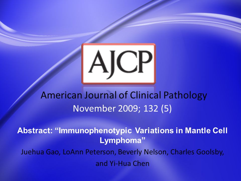 November 2009; 132 (5) American Journal of Clinical Pathology Abstract: Lymphocyte-Depleted Thymic Remnants Geoffrey A.