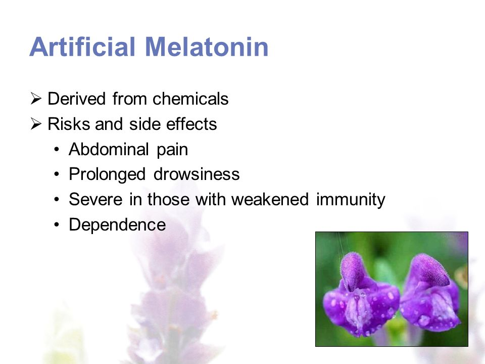 Who should avoid artificial melatonin.