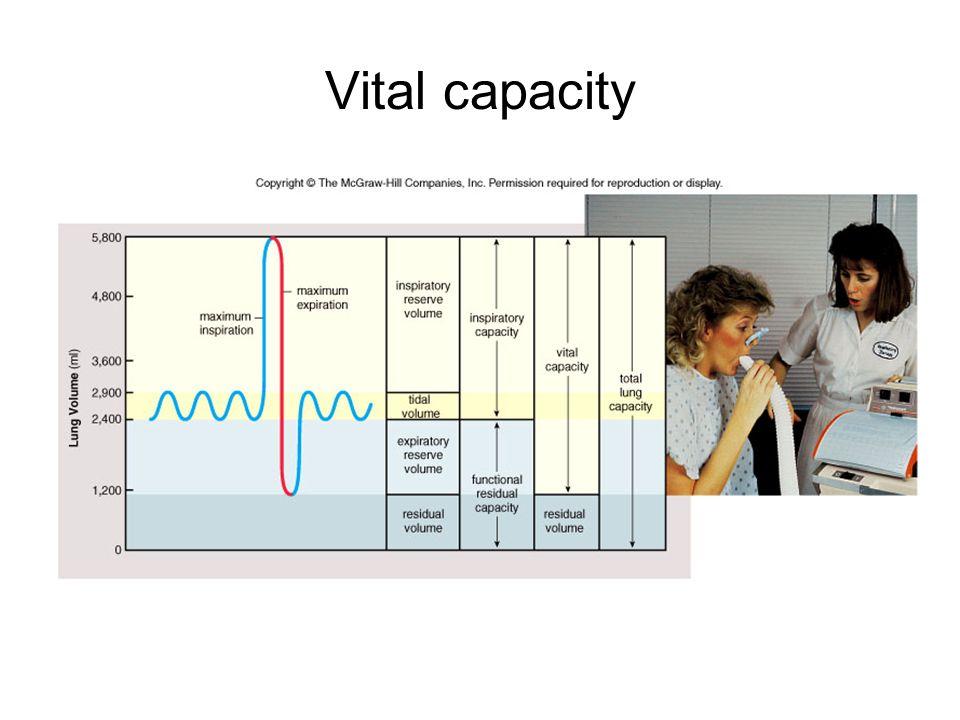 Vital capacity