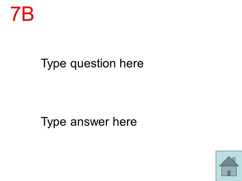7B Type question here Type answer here