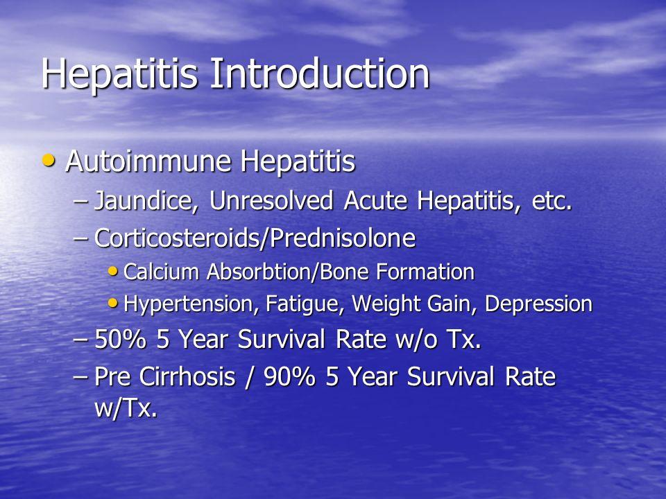 Chronic Hepatitis B 5% Acute HBV to Chronic Liver Disease.
