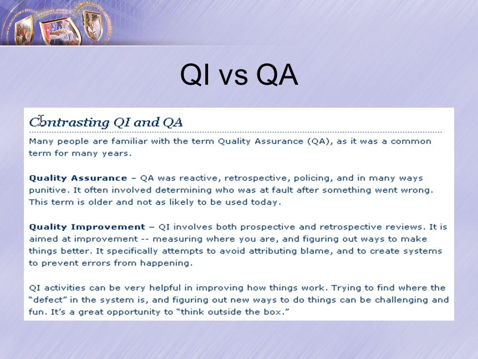 QI vs QA