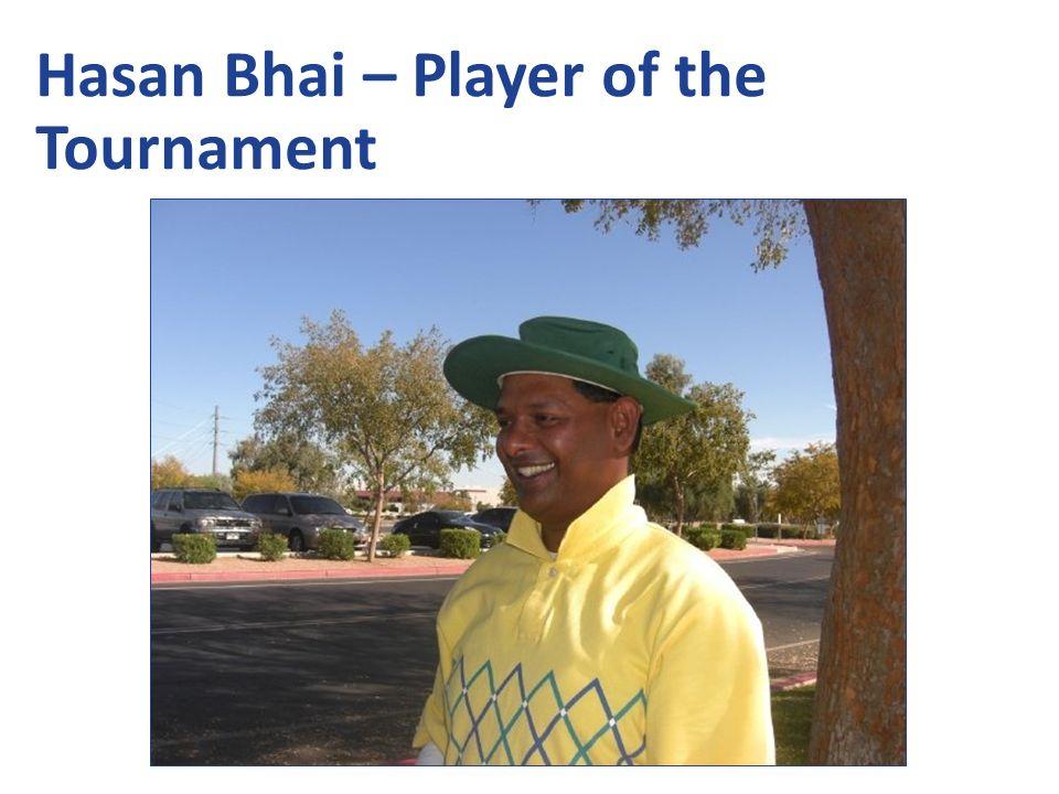 Hasan Bhai – Player of the Tournament