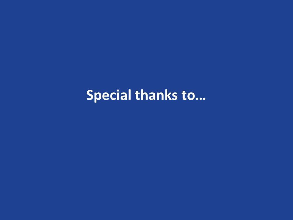 Special thanks to…