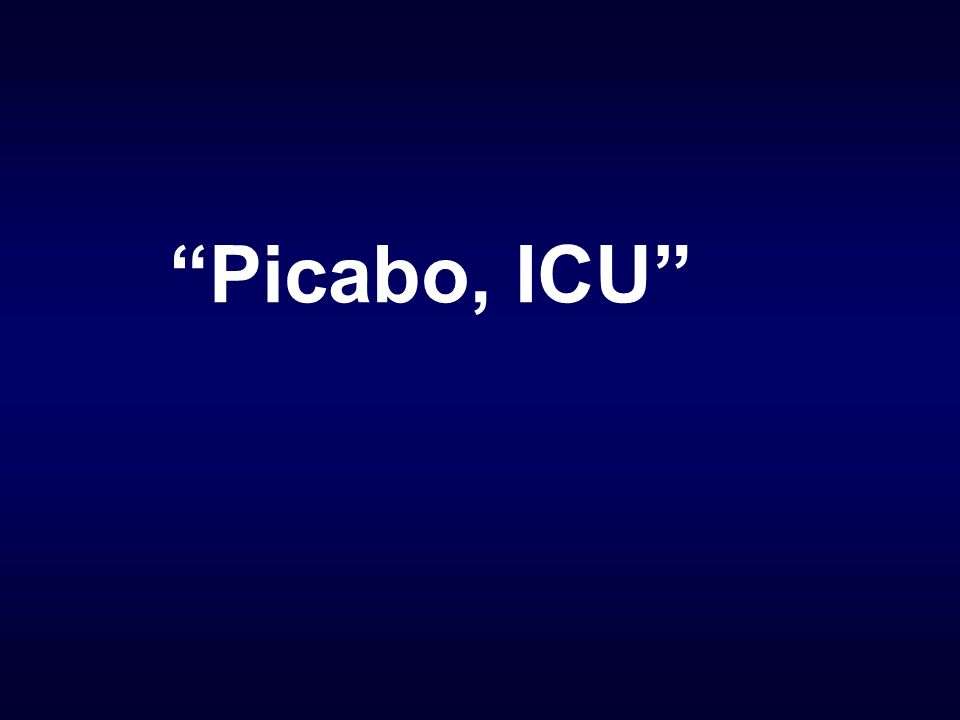 Picabo, ICU