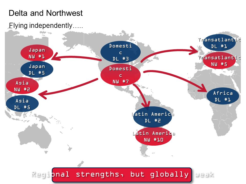 International focus on Asia and #1 U.S. carrier in U.S.-Japan market Domestic focus in Midwest Member of SkyTeam alliance 7th largest carrier in the U
