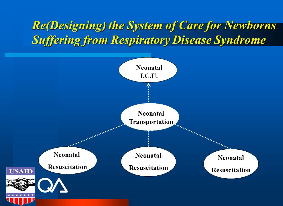 Re(Designing) the System of Care for Newborns Suffering from Respiratory Disease Syndrome Neonatal Resuscitation Neonatal Transportation Neonatal I.C.