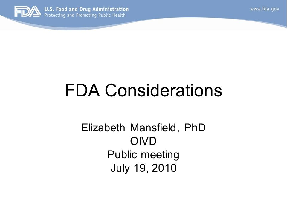 How will FDA manage this.
