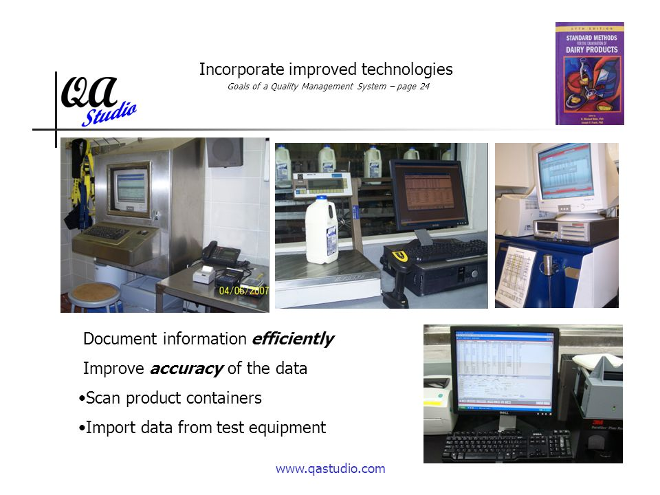 www.qastudio.com Reduce the cost of the operations Utilize the lab data easily to improve operations.