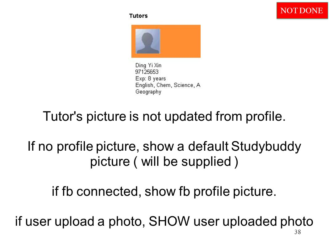 Tutor s picture is not updated from profile.