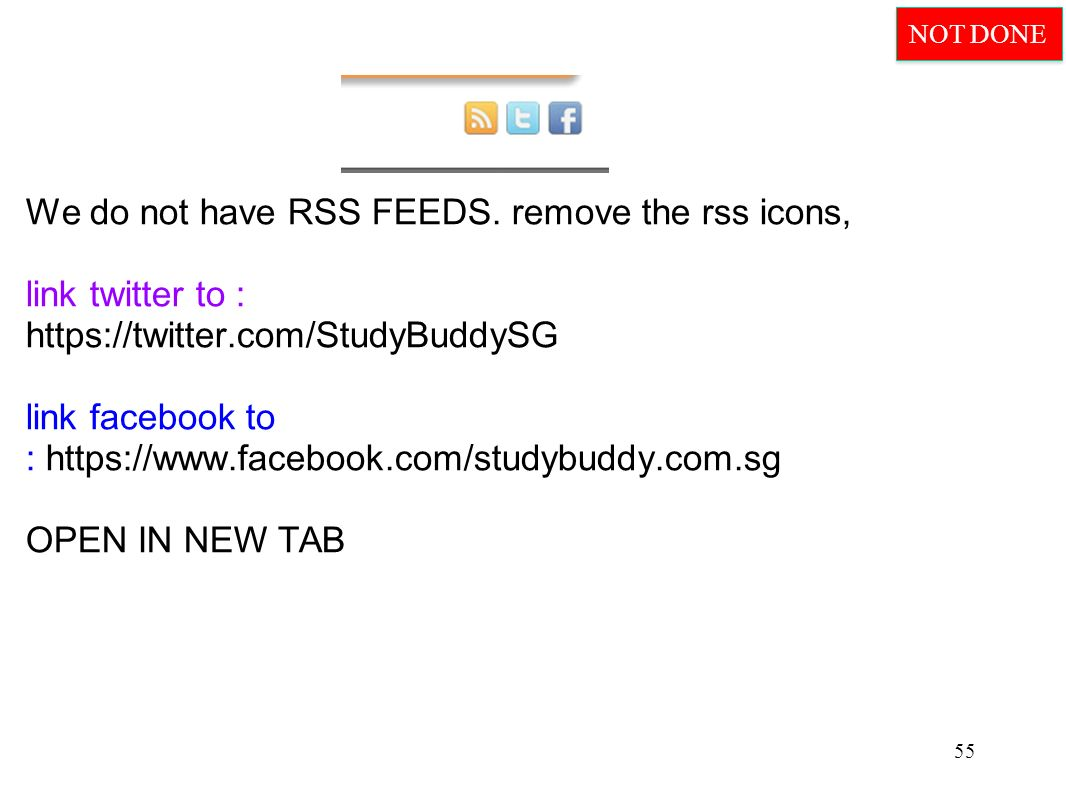 We do not have RSS FEEDS.