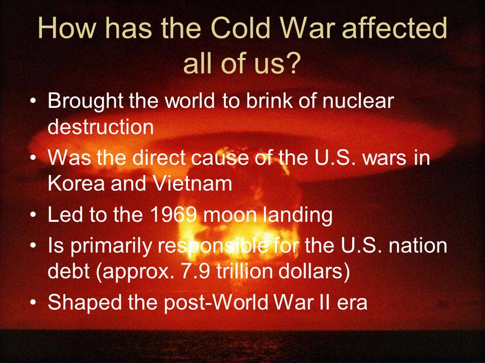 If the U.S. and Soviet Union never fought directly, why do we call it a war? Many wars fought because of the conflict between the US and USSR The US a