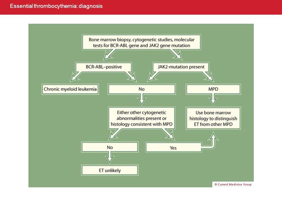 Essential thrombocythemia: diagnosis