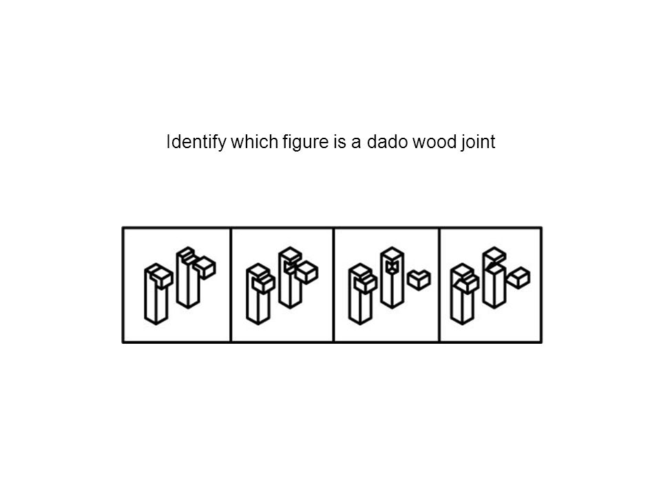 Identify which figure is a dado wood joint