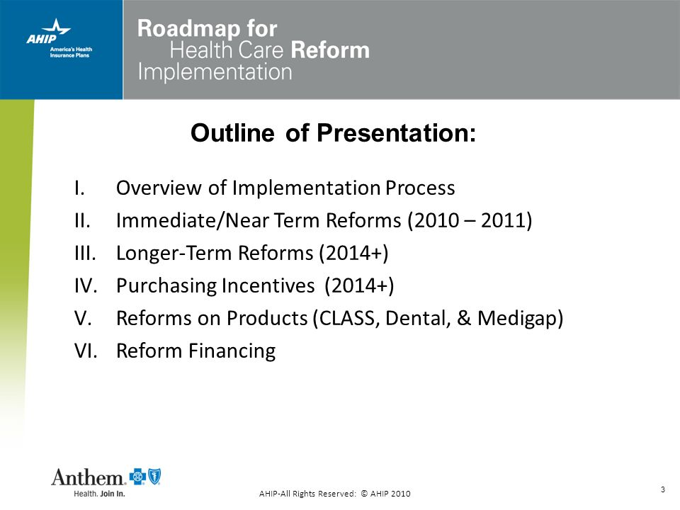 3 Outline of Presentation: I.Overview of Implementation Process II.Immediate/Near Term Reforms (2010 – 2011) III.Longer-Term Reforms (2014+) IV.Purcha