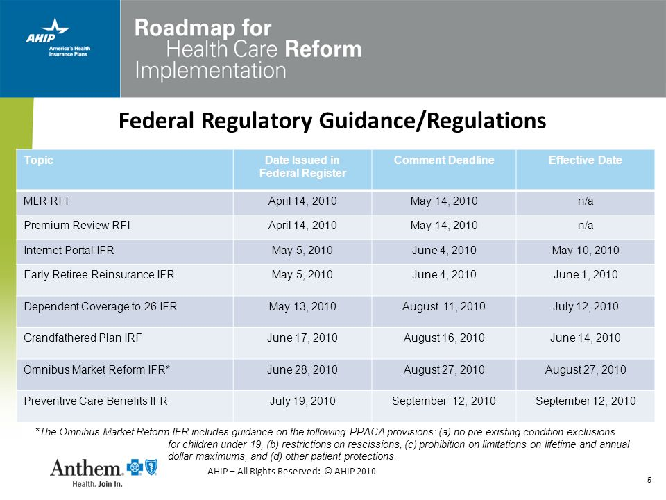 16 Grandfathered Plans – Proposed Rules Near Term Reforms (2010) that APPLY to Grandfathered Plans: MLR/Reporting Requirements Extensions of Dependent Coverage to Age 26 Restrictions on Rescissions No Lifetime Dollar Limits Restricted Annual Limits (Group Only) No Pre-Existing Condition Exclusion for Children (Group Only) Near Term Reforms (2010) that DO NOT Apply to Grandfathered Plans: Preventive Services Mandate Emergency Service Mandate Internal/External Appeals Requirement Direct Access to OB/GYN Restricted Annual Limits (Individual Only) No Pre-Existing Condition exclusions for Children (Individual Only) Access to Pediatricians Access to Primary Care Physicians