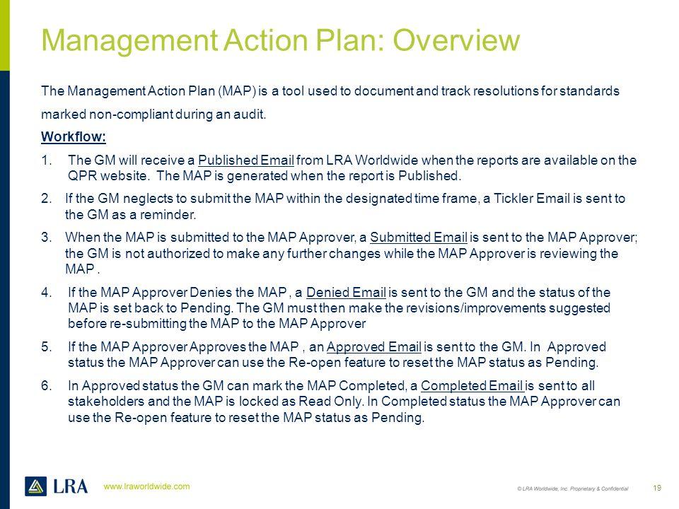 Management Action Plan (MAP) 18