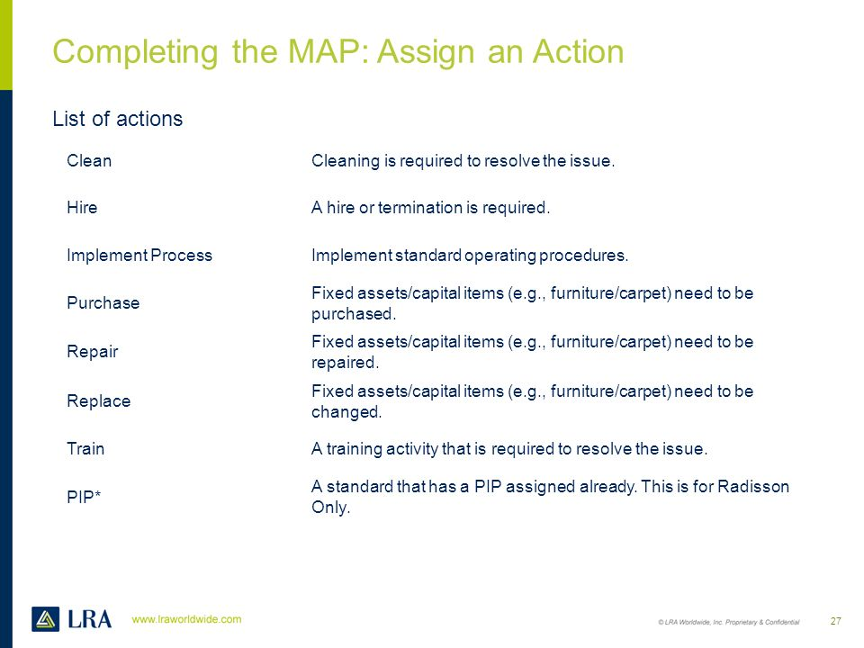 Completing the MAP : Assign a Project Owner Click on the drop down and select a Project Owner. Project Owners are displayed by their department with n
