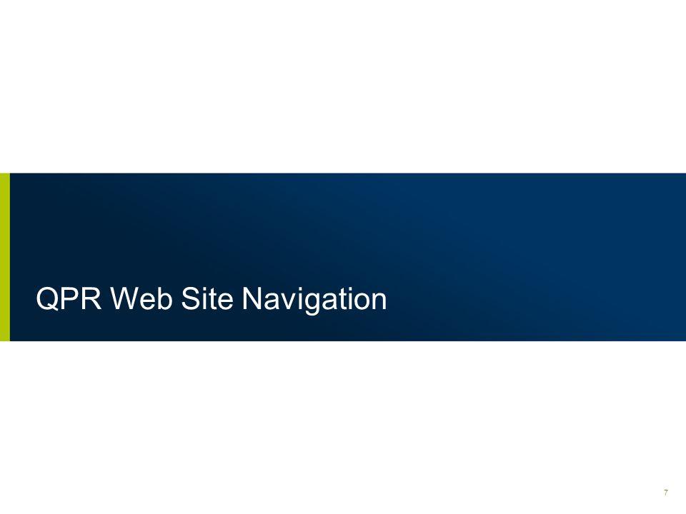 QPR Web Site Navigation 7