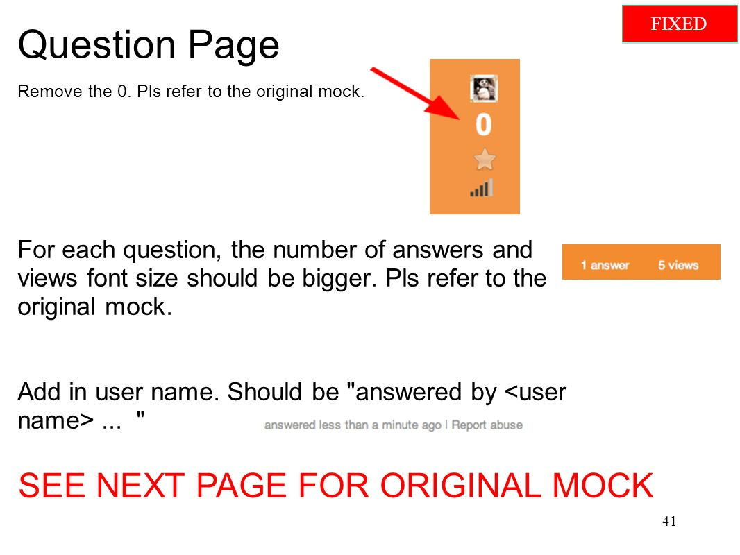 Question Page Remove the 0. Pls refer to the original mock.