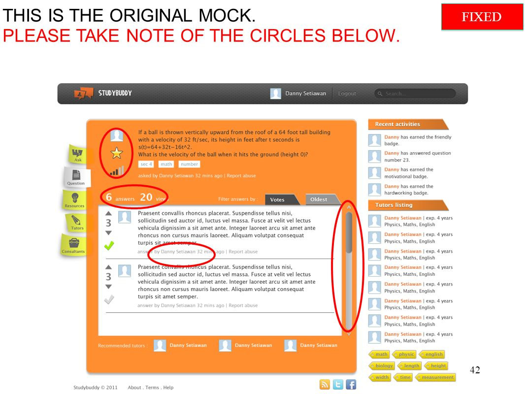 THIS IS THE ORIGINAL MOCK. PLEASE TAKE NOTE OF THE CIRCLES BELOW. 42 FIXED