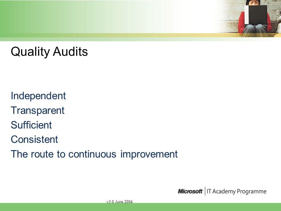v3.0 June 2004 The self assessment quality checklist