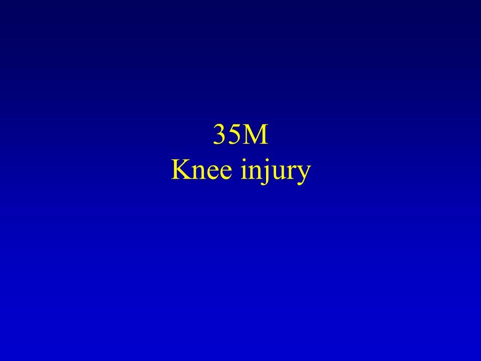 35M Knee injury
