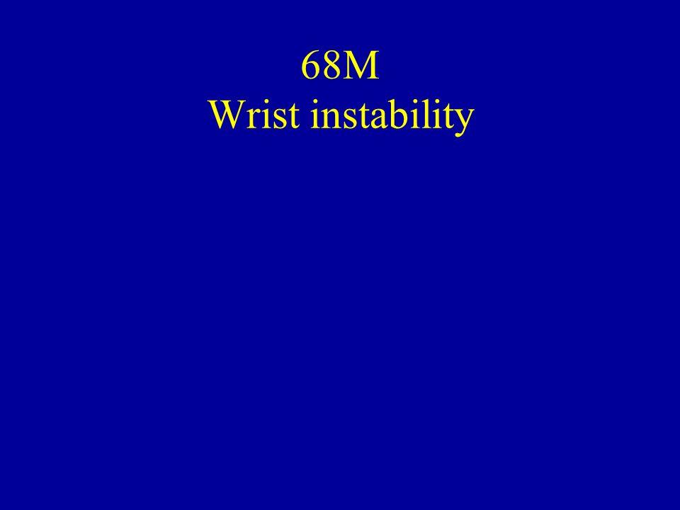 68M Wrist instability