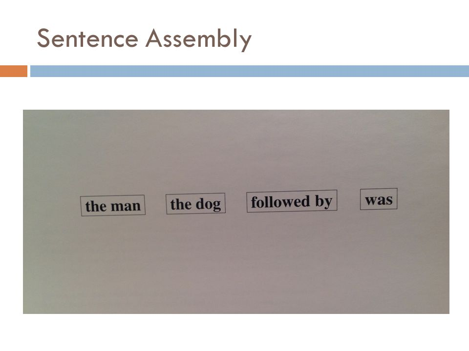 Sentence Assembly