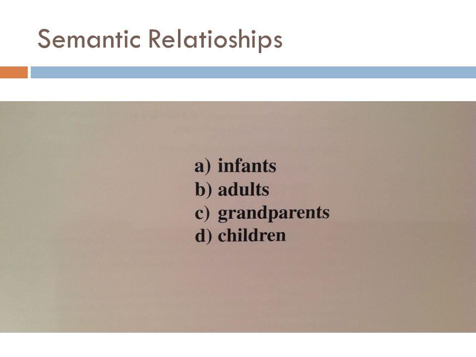 Semantic Relatioships