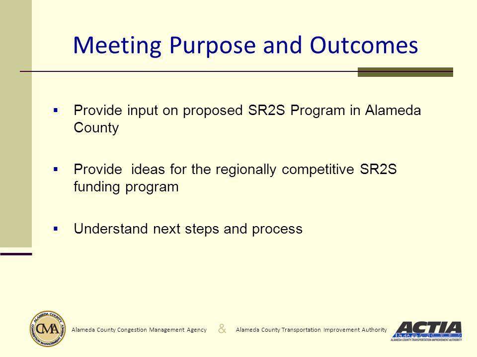 & Alameda County Transportation Improvement AuthorityAlameda County Congestion Management Agency 1.