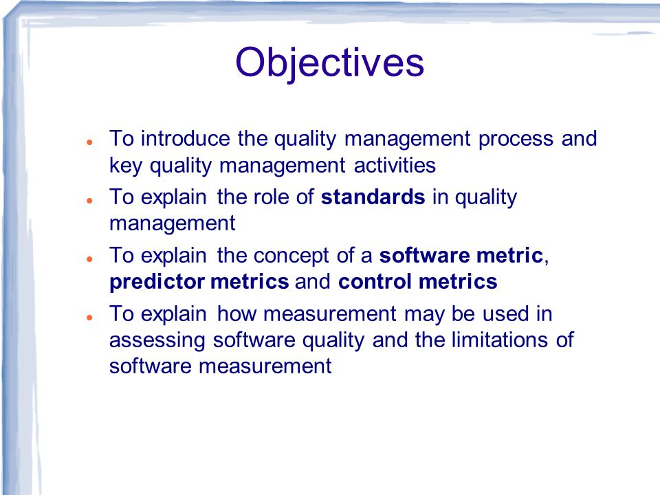 Dynamic and static product metrics Dynamic metrics are closely related to software quality attributes It is relatively easy to measure the response time of a system (performance attribute) or the number of failures (reliability attribute).
