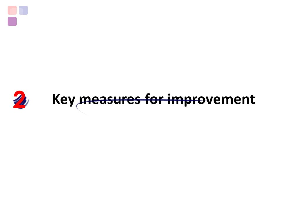 Key measures for improvement 2
