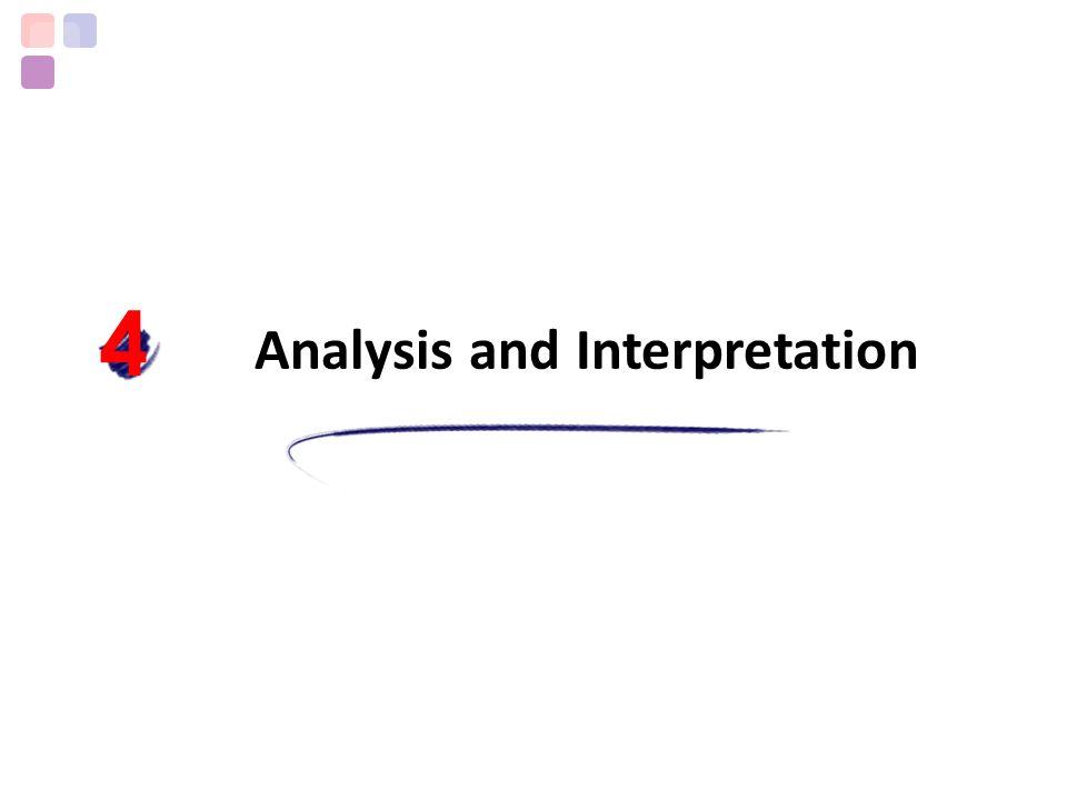 Analysis and Interpretation 4