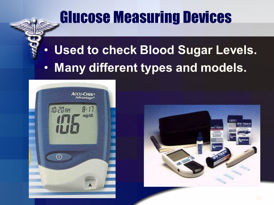 40 Glucose Measuring Devices Used to check Blood Sugar Levels. Many different types and models.