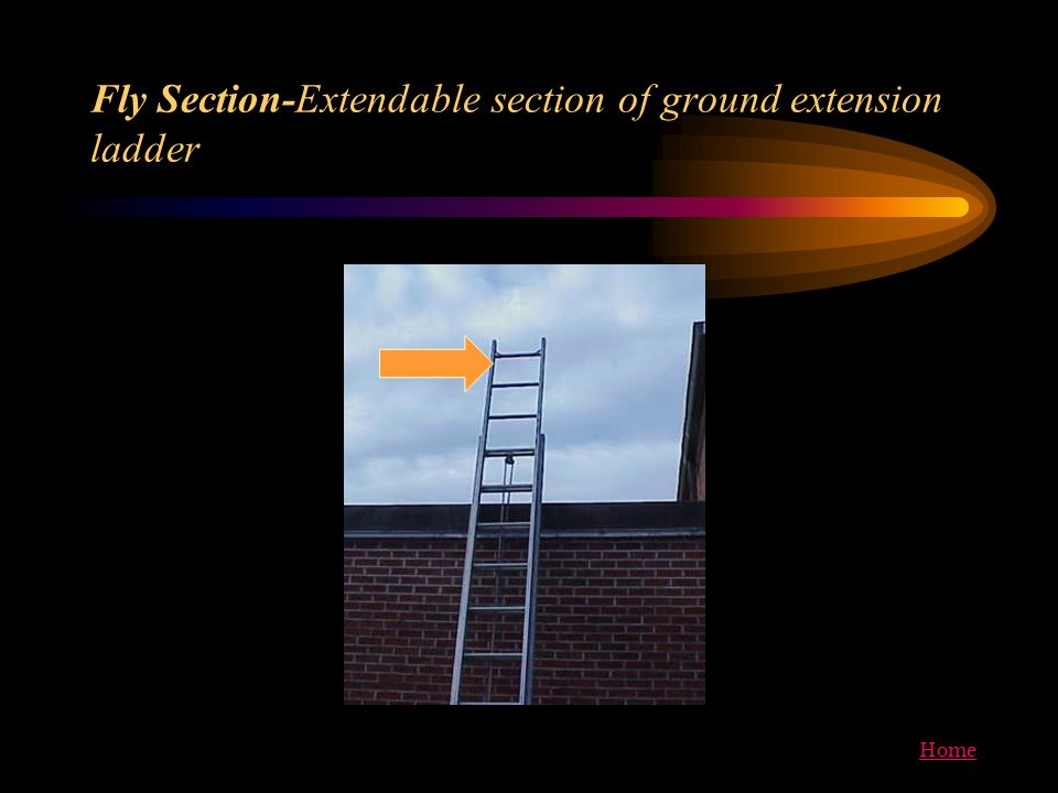 Home Fly Section-Extendable section of ground extension ladder