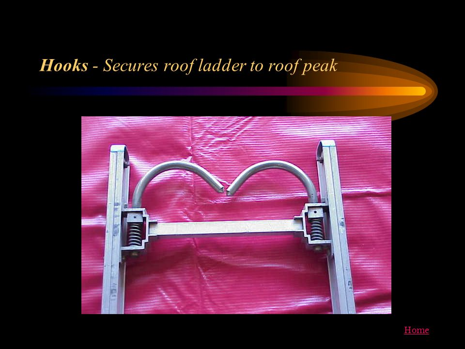 Home Hooks - Secures roof ladder to roof peak